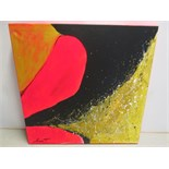 Abstract Artwork Signed by the Artist. Acrylic & Mixed Media on Canvas with Painted Edges & Ready to