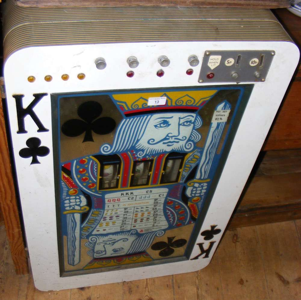 "Lot 13 - A 5p and 10p coin in the slot electrically operated fruit machine ""King of Clubs"""
