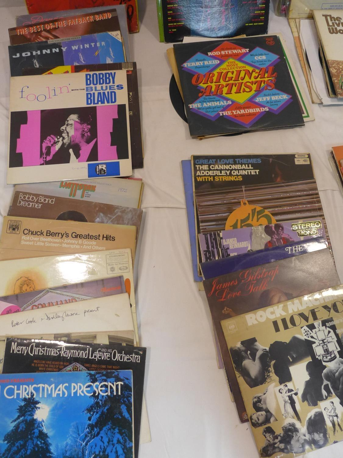 Lot 735 - A quantity of vinyl LP's, to include The Beatles' ''The White Album'' and Jimmy Hendrix ''Are you