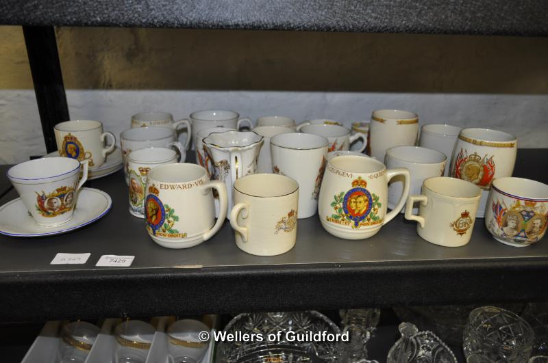 Lot 7429 - A quantity of Royal commemorative mugs and trios.