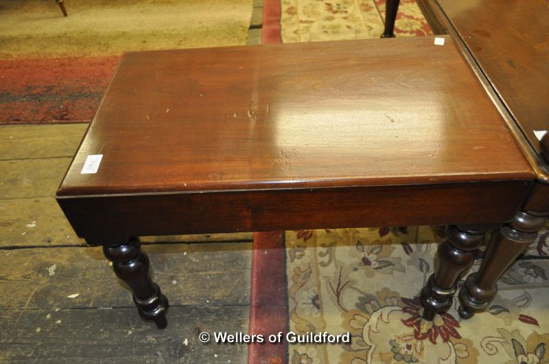 Lot 7363 - A Victorian rectangular mahogany bidet with china liner.