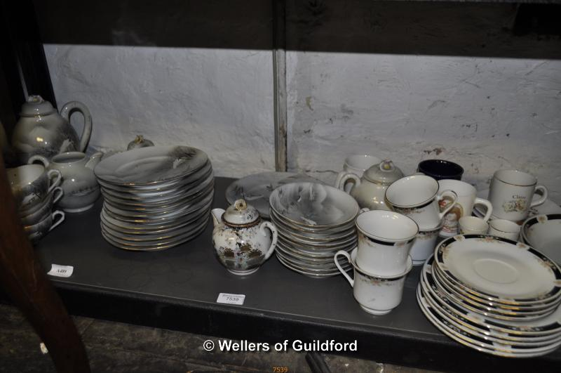 Lot 7539 - Japanese eggshell tea set and other china.