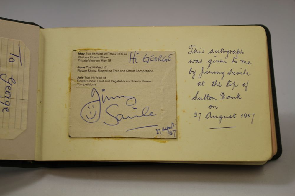 An Autograph Book featuring Signature and Dedication from ...