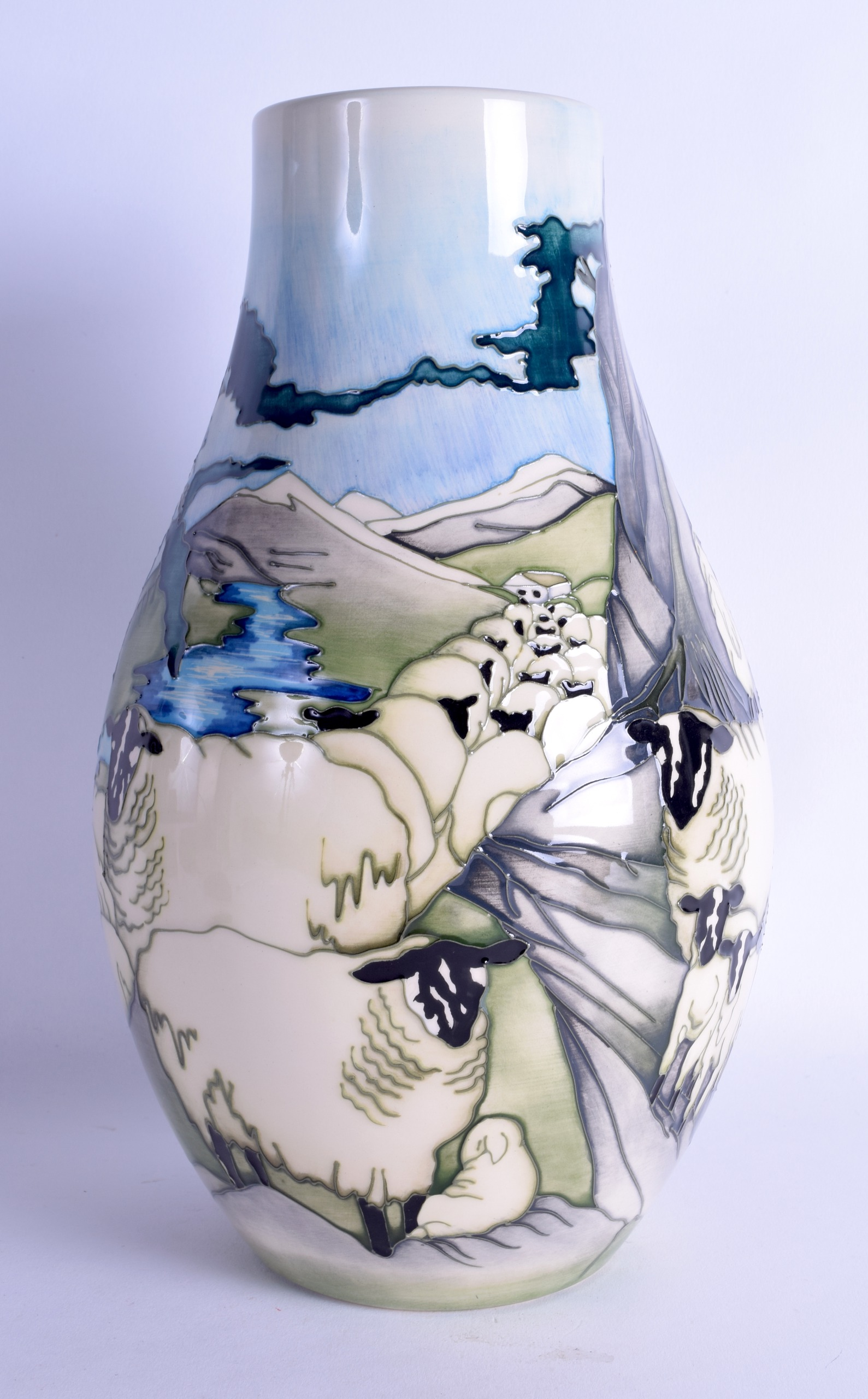 Lot 58 - A MOORCROFT 'THE ROACHES' VASE designed by Kerry Goodwin. No 38 of 100. 30 cm high.