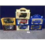 7x Diecast Vehicles Advertising Tea, All In Individual Boxes