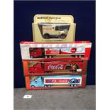 4x Lledo Diecast Coca Cola Trucks Comprising Of; Each One Boxed.