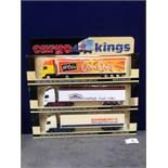 3x Lledo Cargo King Diecast Trucks Comprising Of; LLEDO CARGO KINGS CK1002, Volvo FH12 Articulated