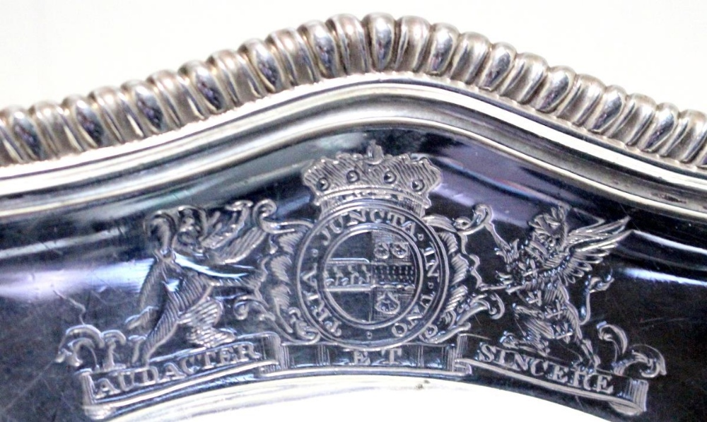 Lot 348 - A matched set of Twelve George II/III silver pudding plates, (six probably by William Cripps, London