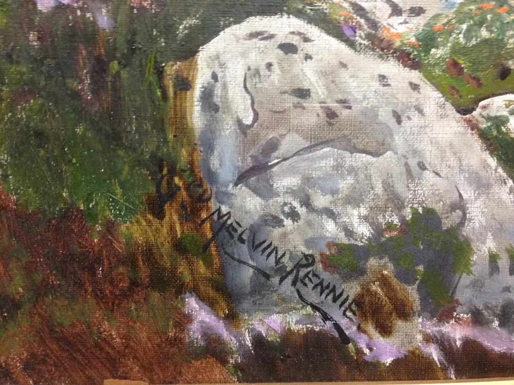 "Lot 438 - § George Melvin Rennie (Scottish, 1874-1953) Mountain range, the Isle of Skye signed lower left """