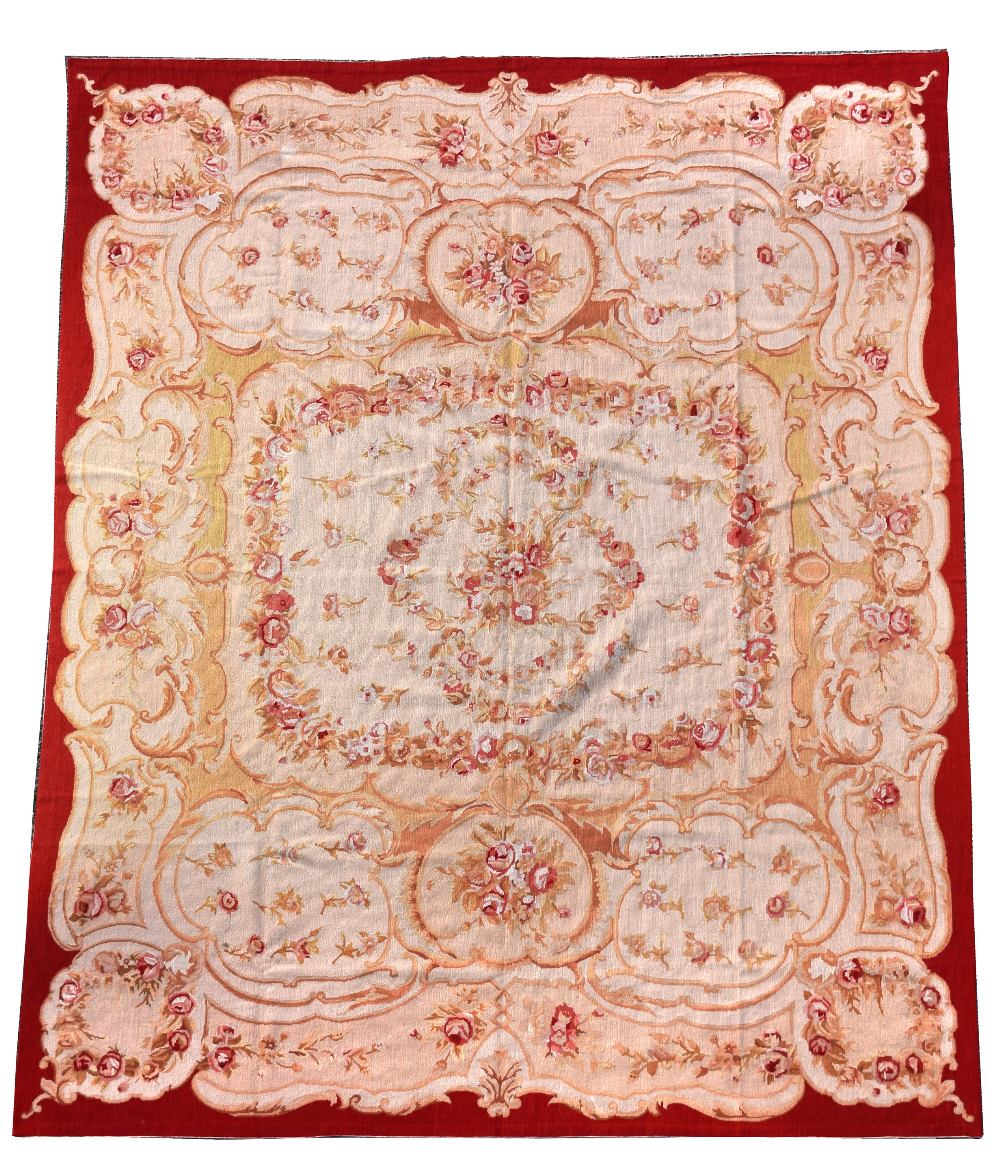 Lot 862 - A Reves du Desert French neeedlework carpet, Jardin du Paradis design 244 x 305cm (95 x 119in) The