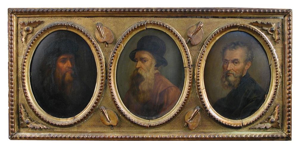 Lot 507 - Leopoldo Dumini (Italian, 19th Century) Studies of the artists Leonardo da Vinci; Benvenuto Cellini;