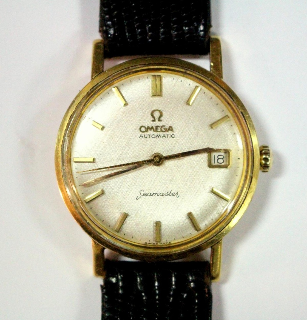 Lot 265 - By Omega - a gentleman's 18ct gold cased automatic 'Seamaster' wristwatch, circa 1960's, with
