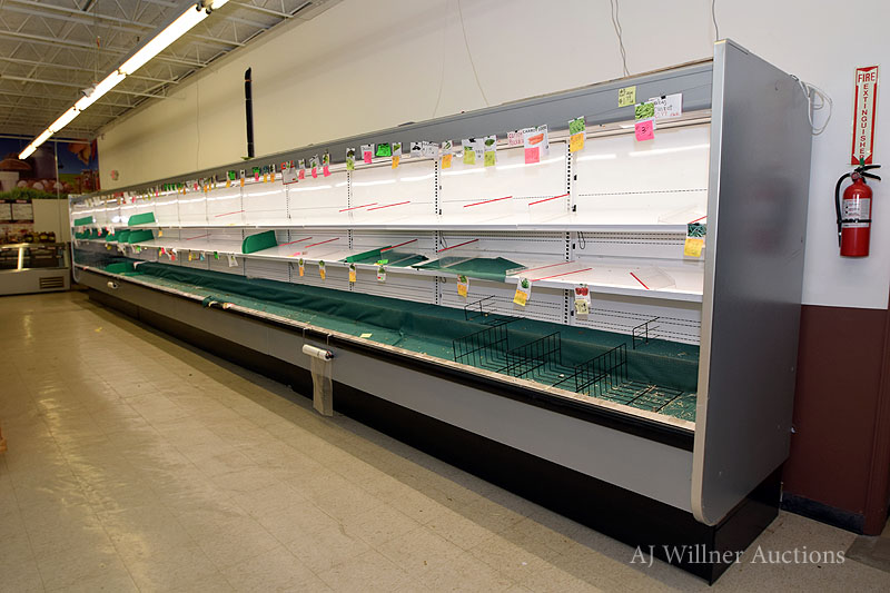 "Lot 23 - Hussman 4 Section, Refrigerated Produce Showcase, 40'x82"" high"