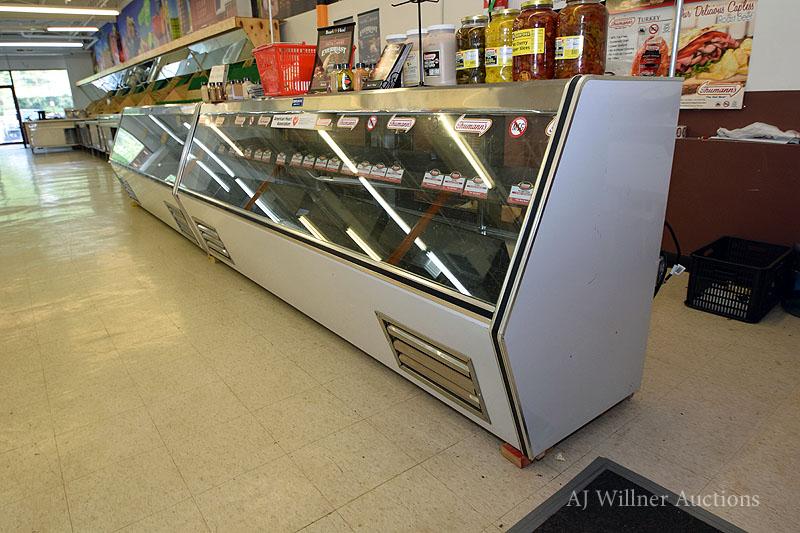 "Lot 25 - Coolman Refrigerated, Slant Front Deli Case, 10'x42"""