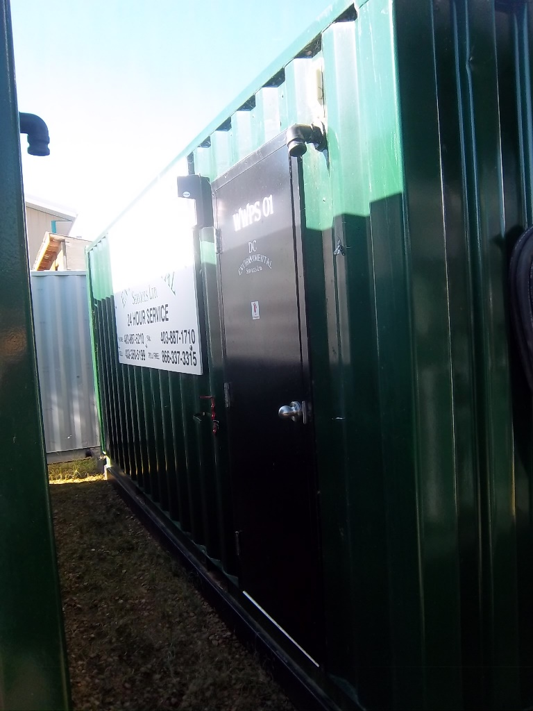Lot 7 - USED SHOP BUILT 24' SKIDDED SELF CONTAINED ENCLOSED WASTE WATER PROCESSING (TREATMENT) WATER SYSTEM