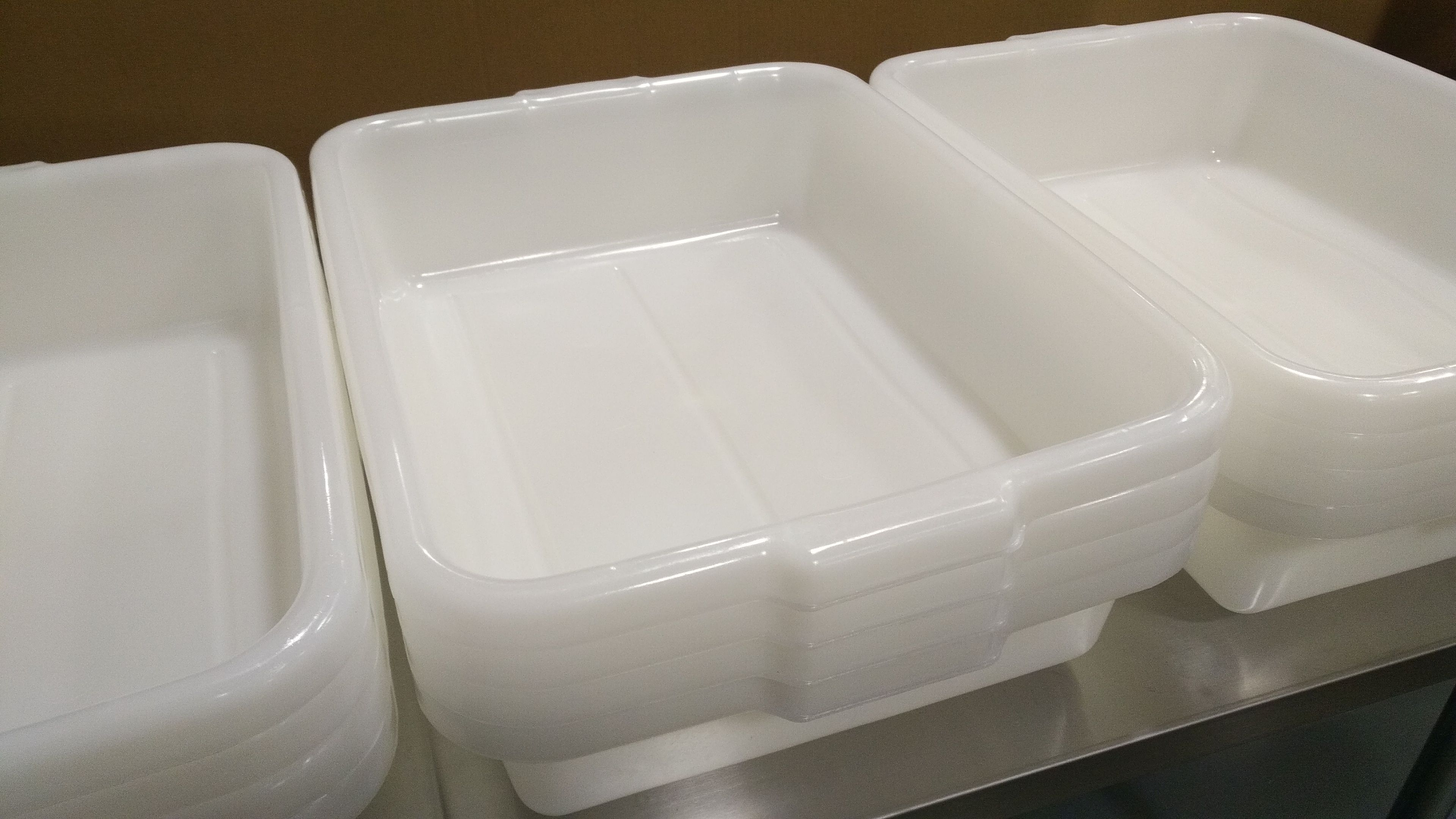 Lot 35 - White Tote Boxes - Lot of 6