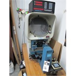 "Deltronic DH14-MPC4E 14"" Optical Comparator s/n A98072014 w/ MPC-4 Programmable DRO, Digital Angular"