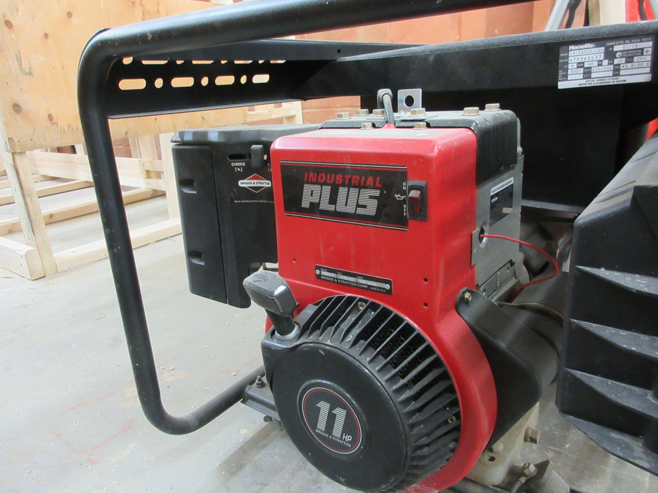 HOMELITE LRIE 5500 generator, 11 HP, 5500 watts - Image 3 of 3