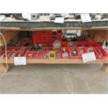 LOT including assorted hardware, plastic trays, etc.