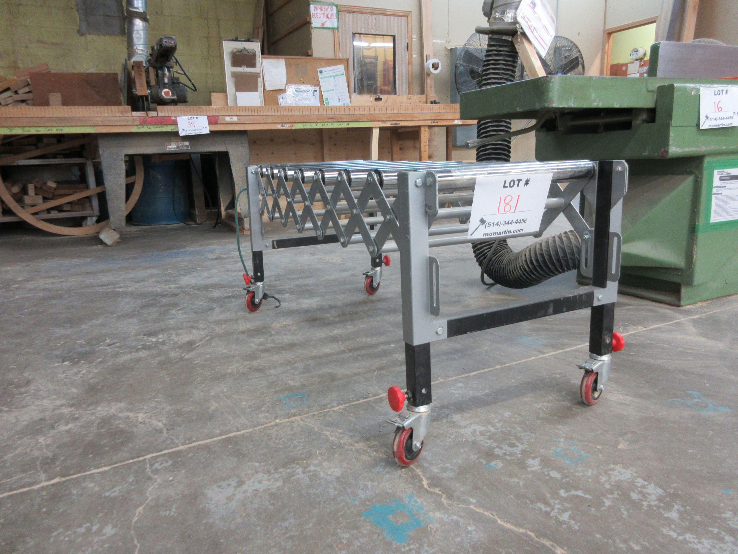 "Extendable conveyor on wheels 54""L x 19"" W"