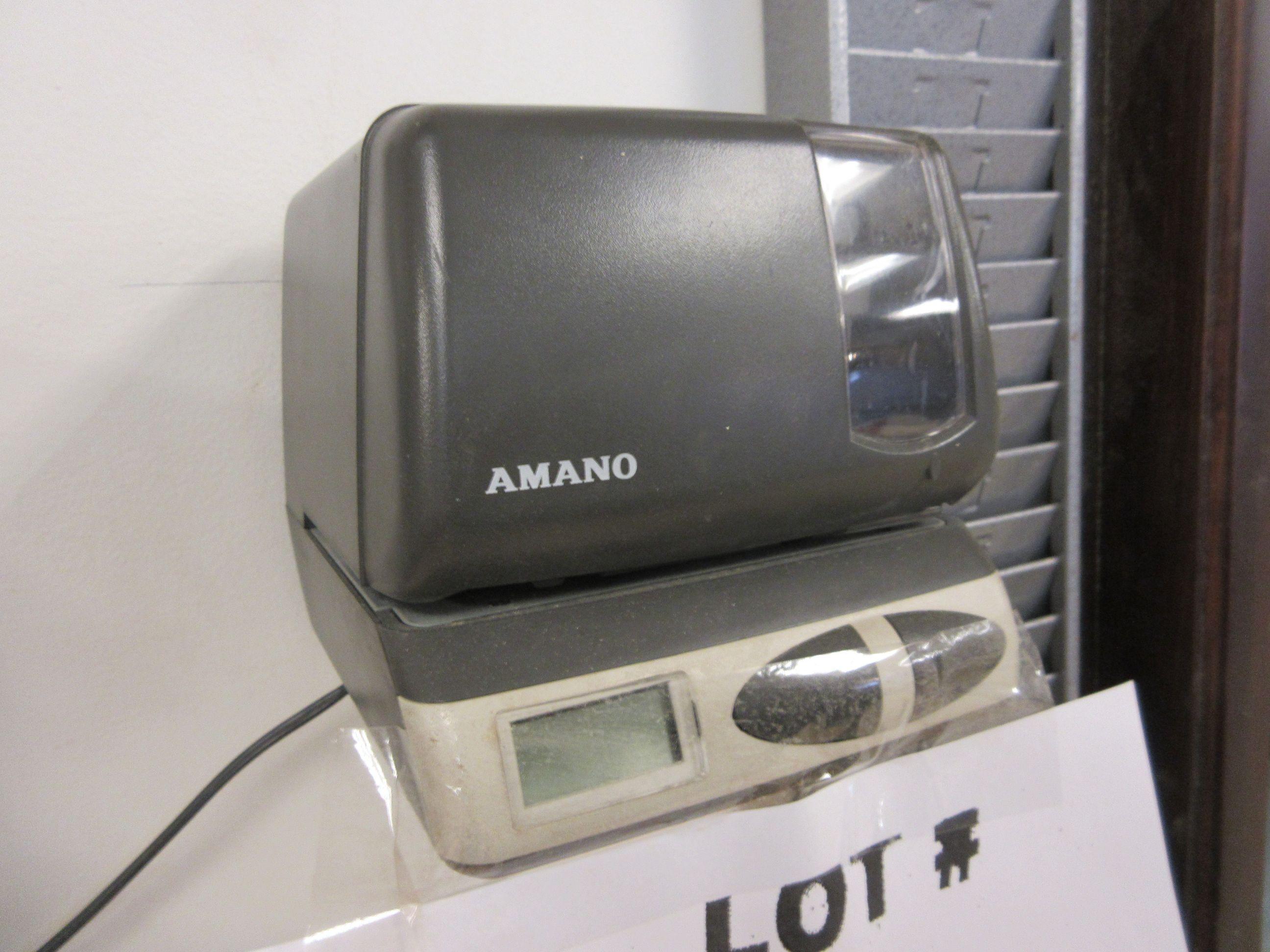 AMANO punch clock - Image 2 of 2