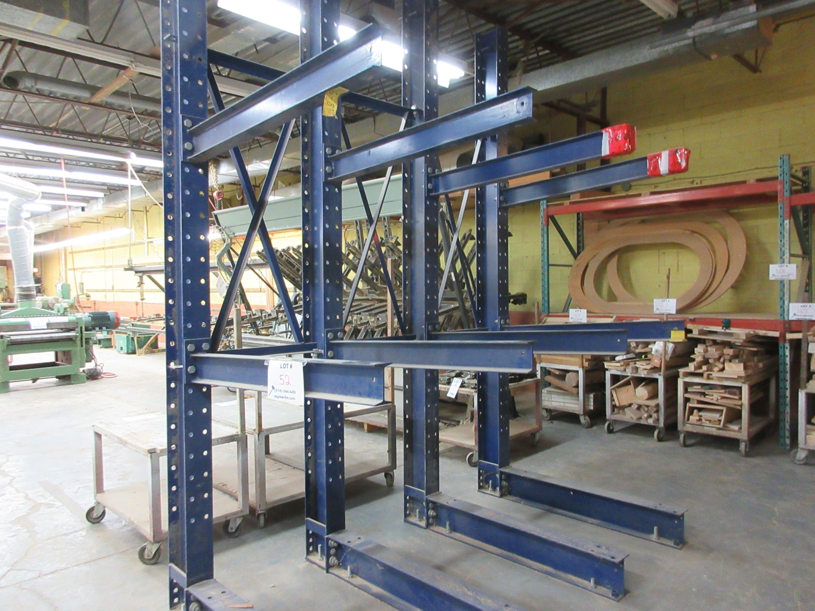 "CANTILEVER Heavy duty industrial wood racking 101""w x 139"" h x 60"" d - Image 2 of 2"