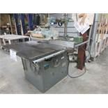 "ROCKWELL table saw 14"" c/w feeder, 600 volts"