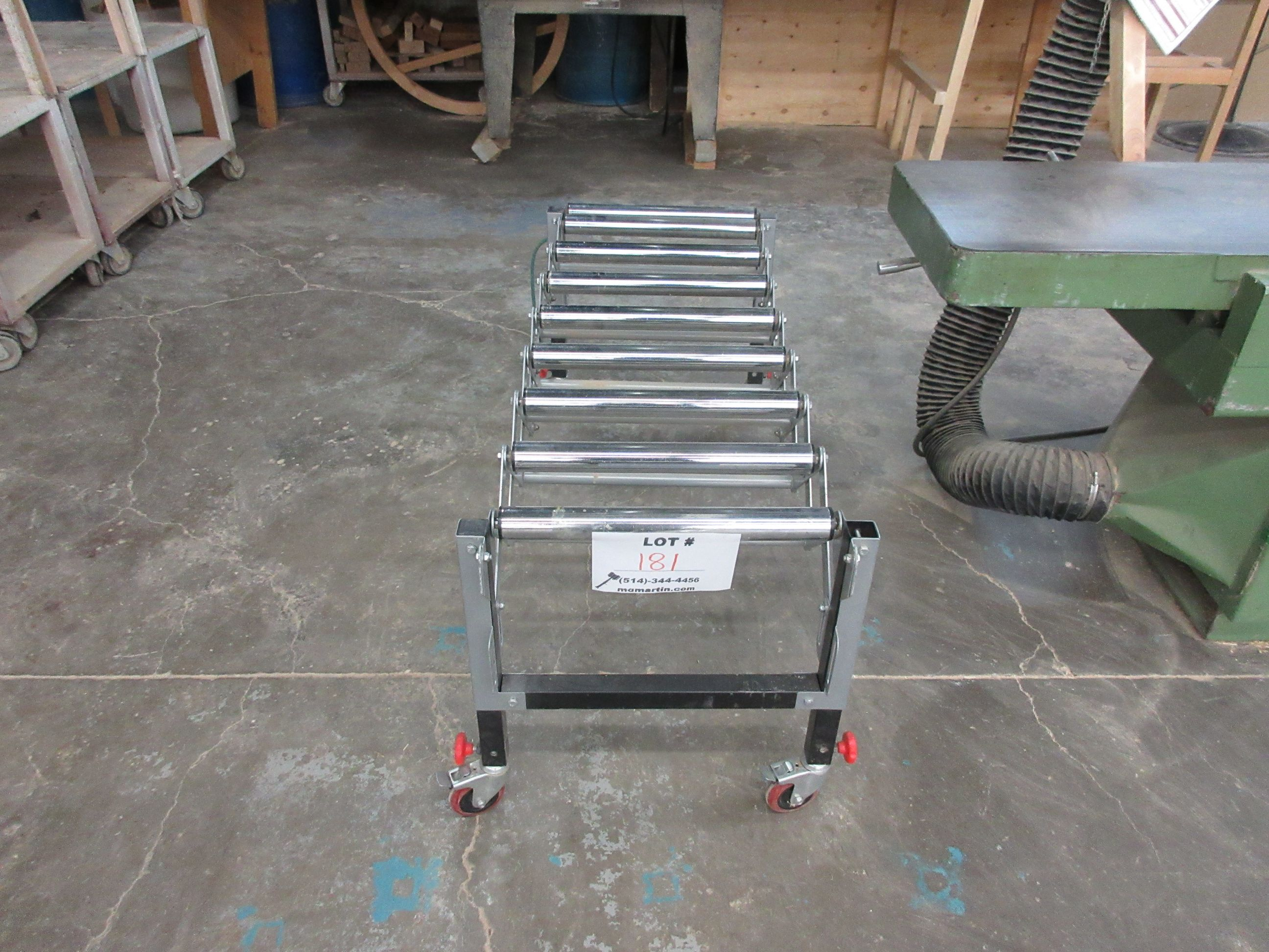 """Extendable conveyor on wheels 54""""L x 19"""" W - Image 2 of 2"""