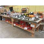 Work tables c/w electrical outlets aprox 5ft x 8ft (2)