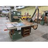 """POITRAS table saw c/w excalibur ,12"""" blade, 5 HP, 600 volts"""
