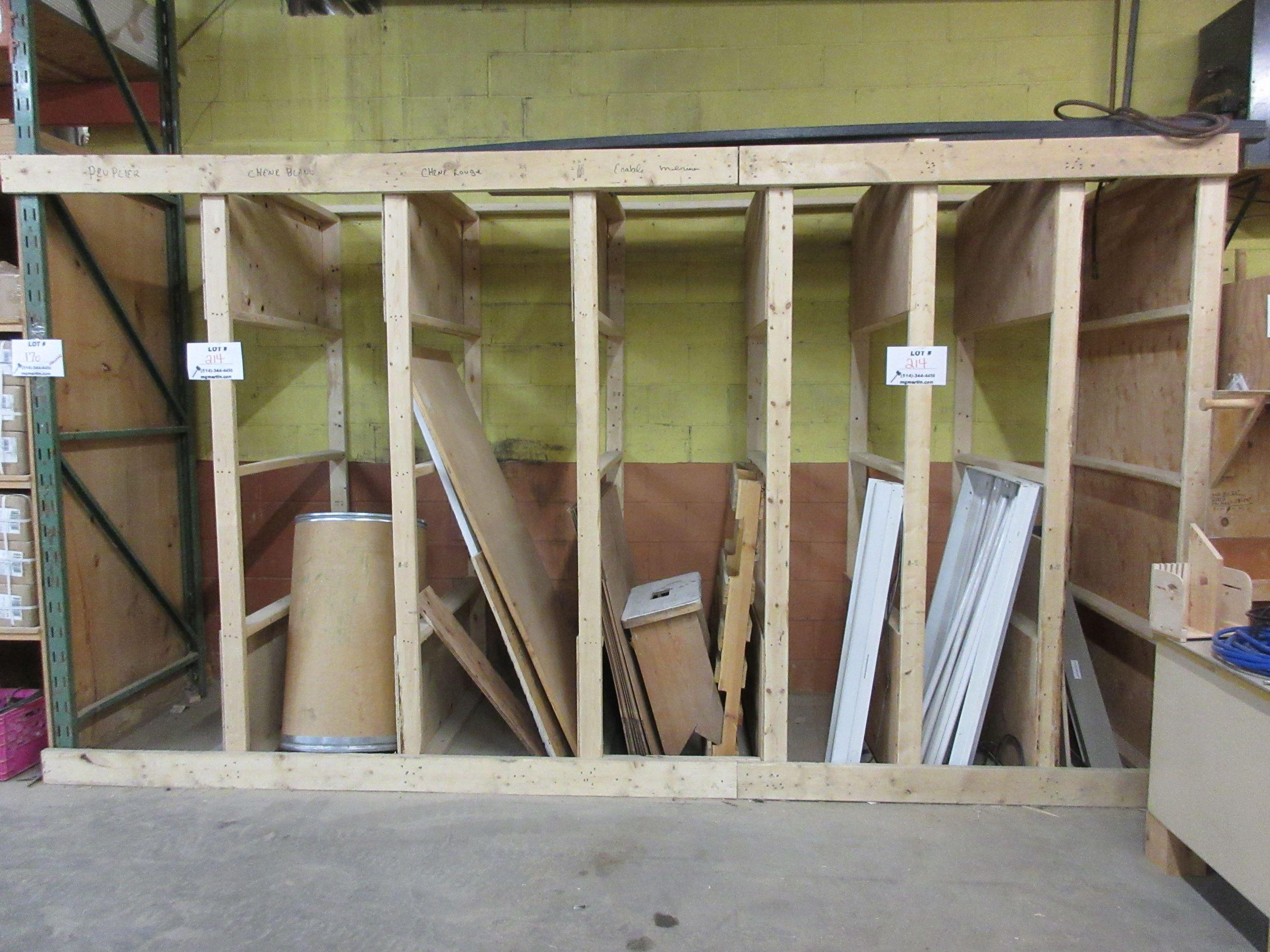 LOT assorted racking, wood desk, etc. - Image 3 of 4