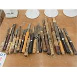 LOT including 20 assorted chisels, etc.