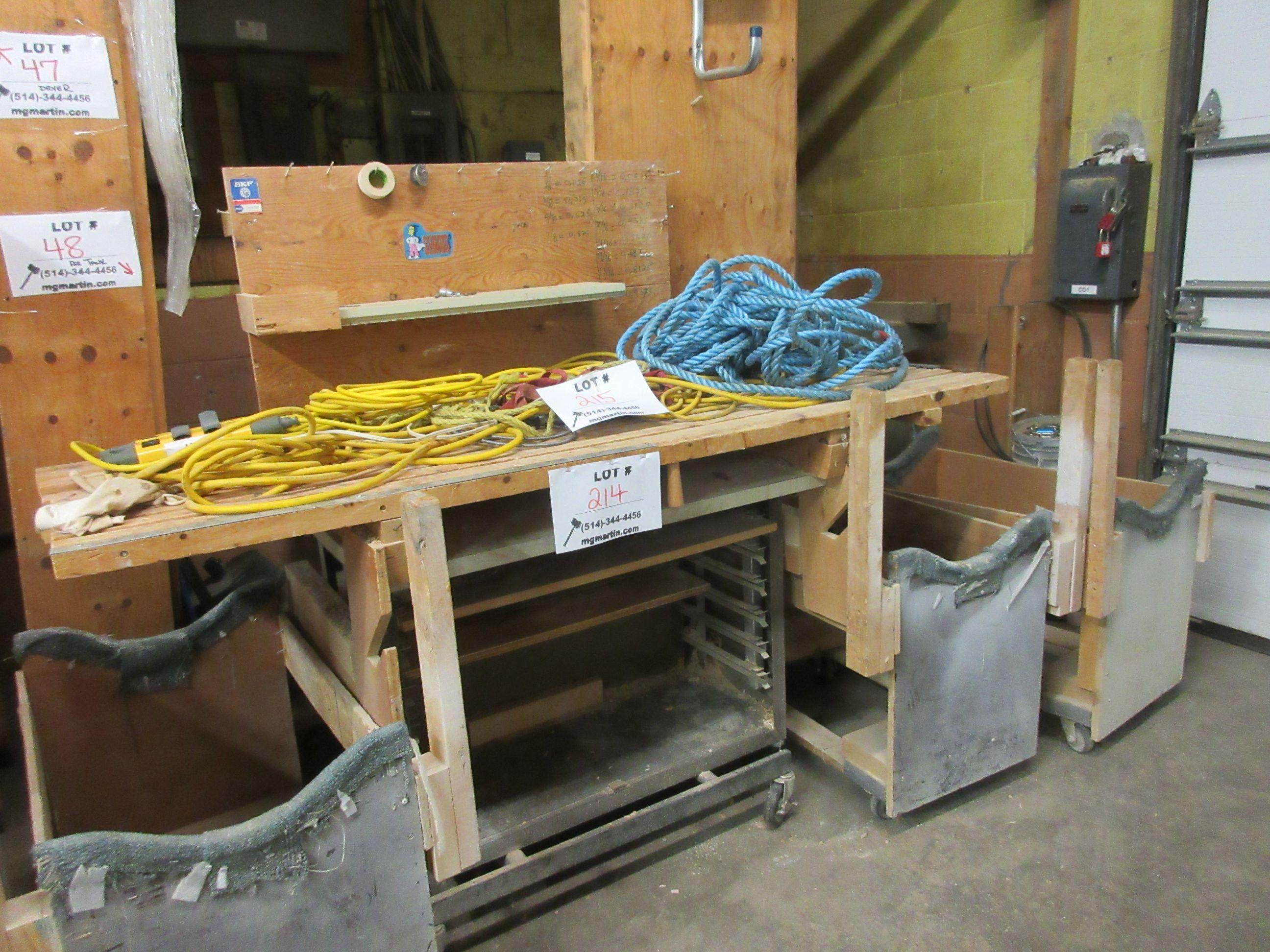 LOT assorted racking, wood desk, etc. - Image 4 of 4
