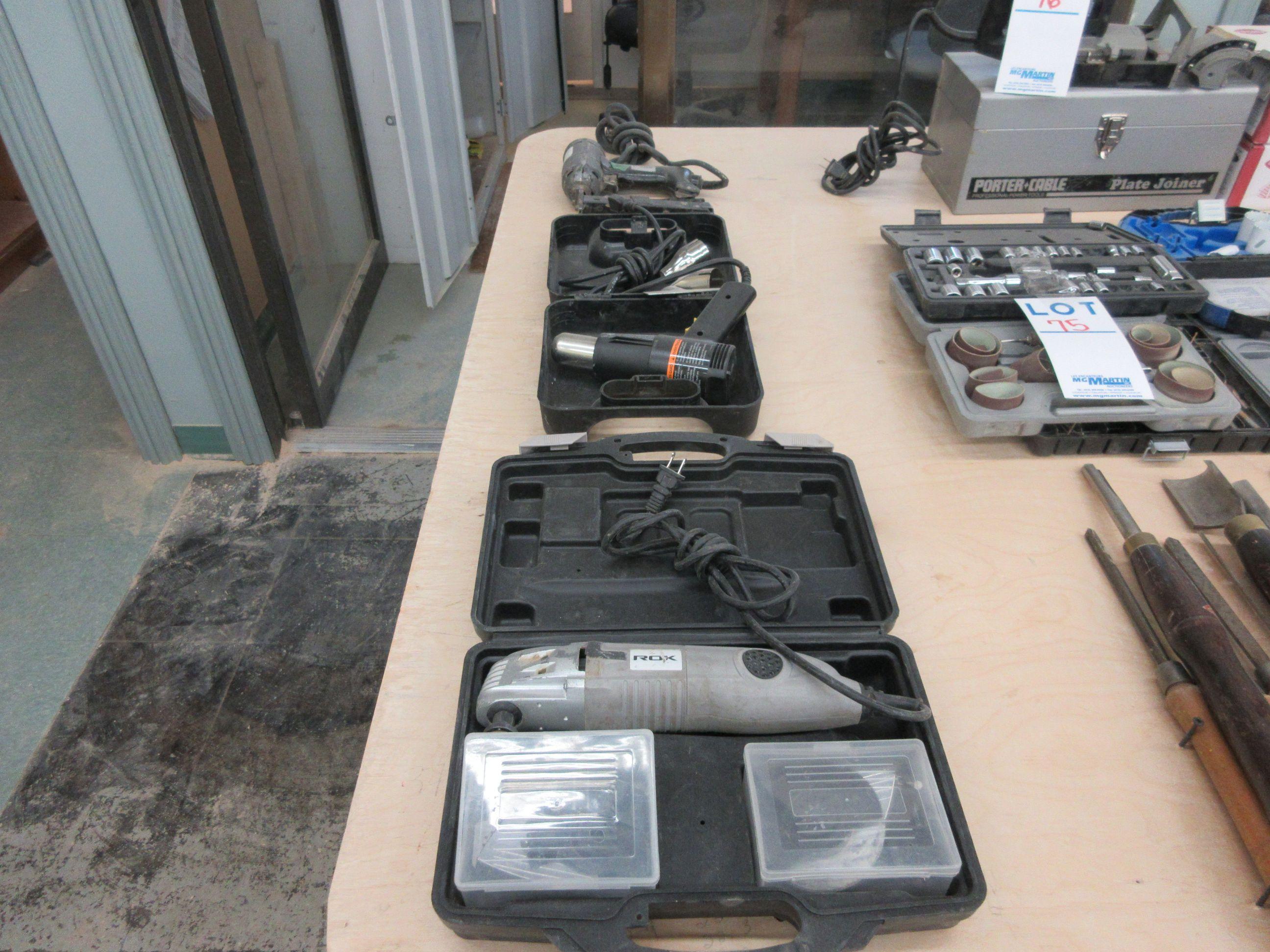 LOT including heater, stapler, etc.