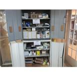 LOT including cabinets, sandpaper, tape, etc.