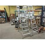 Multiple platform heavy duty ladder 7ft