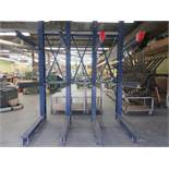 """CANTILEVER Heavy duty industrial wood racking 101""""w x 139"""" h x 60"""" d"""