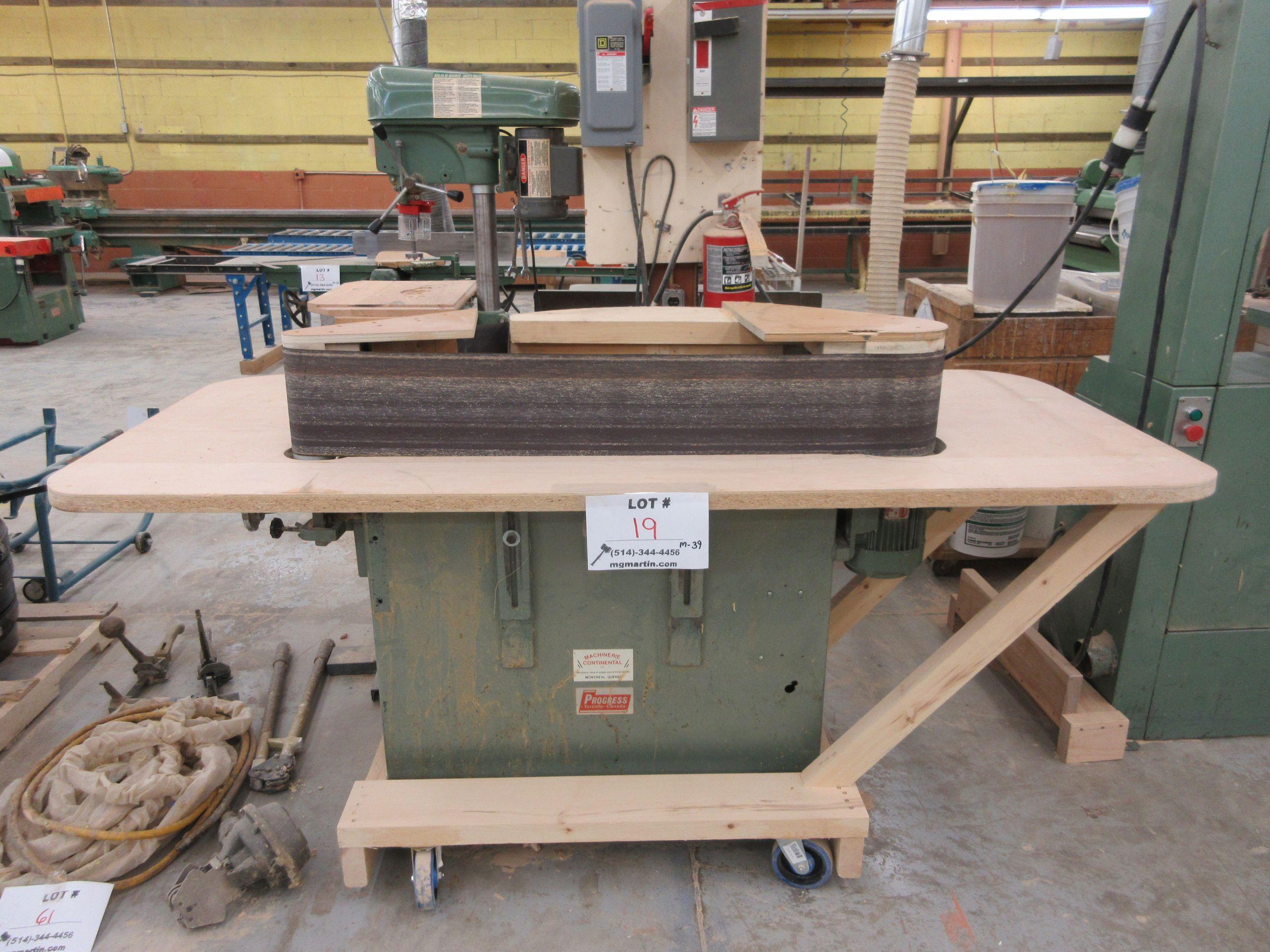 PROGRESS 4ft edge sander, 600 volts