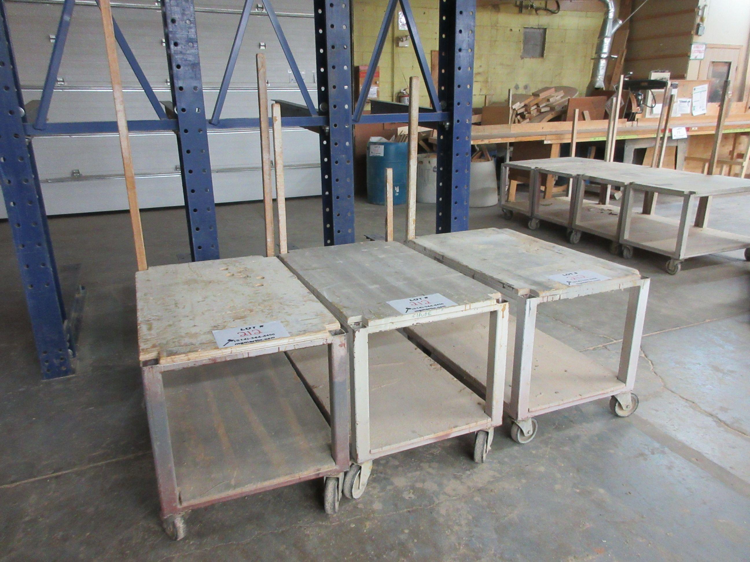 "Work carts on wheels aprox 40"" x 24"" (3)"