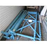 """LOT including industrial racking (2) uprights 36"""" x 9ft , (6) bars 112"""" x 4"""""""