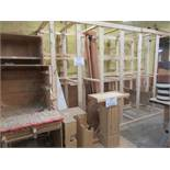 LOT assorted shelves, wood, etc.
