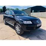 VOLKSWAGEN TOUAREG 2.5 TDI SPORT AUTO 2004 REG 4x4 BLACK - CREAM LEATHER