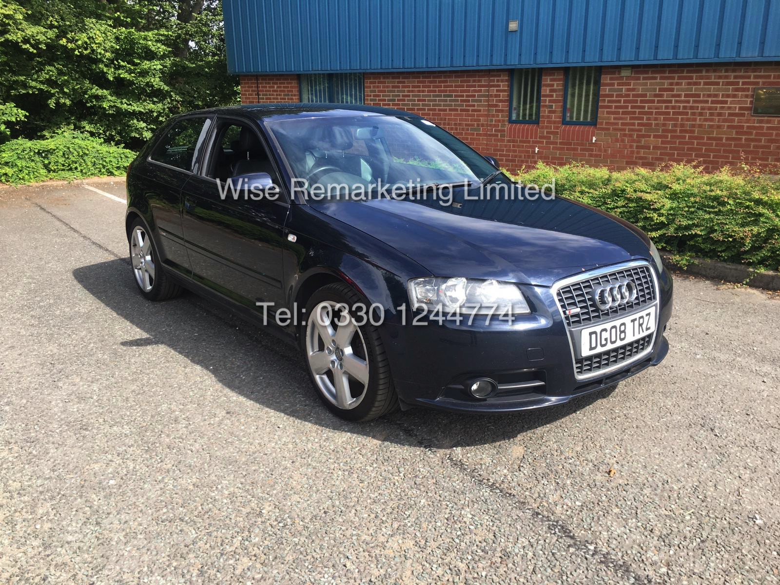 Lot 22 - AUDI A3 S LINE 2.0 TDI 140BHP - SERVICE HISTORY - LEATHER INTERIOR - 2008