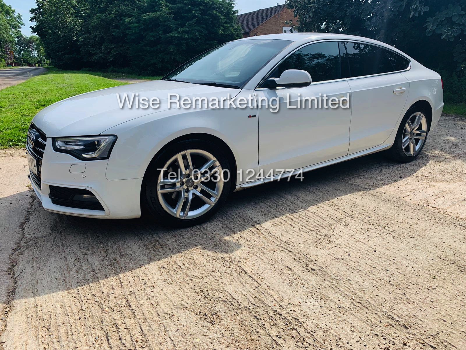 **RESERVE MET**AUDI A5 2.0 TDI ULTRA S LINE 5DR 2015 MODEL **WHITE** FULL HISTORY- 1 OWNER - Image 4 of 29