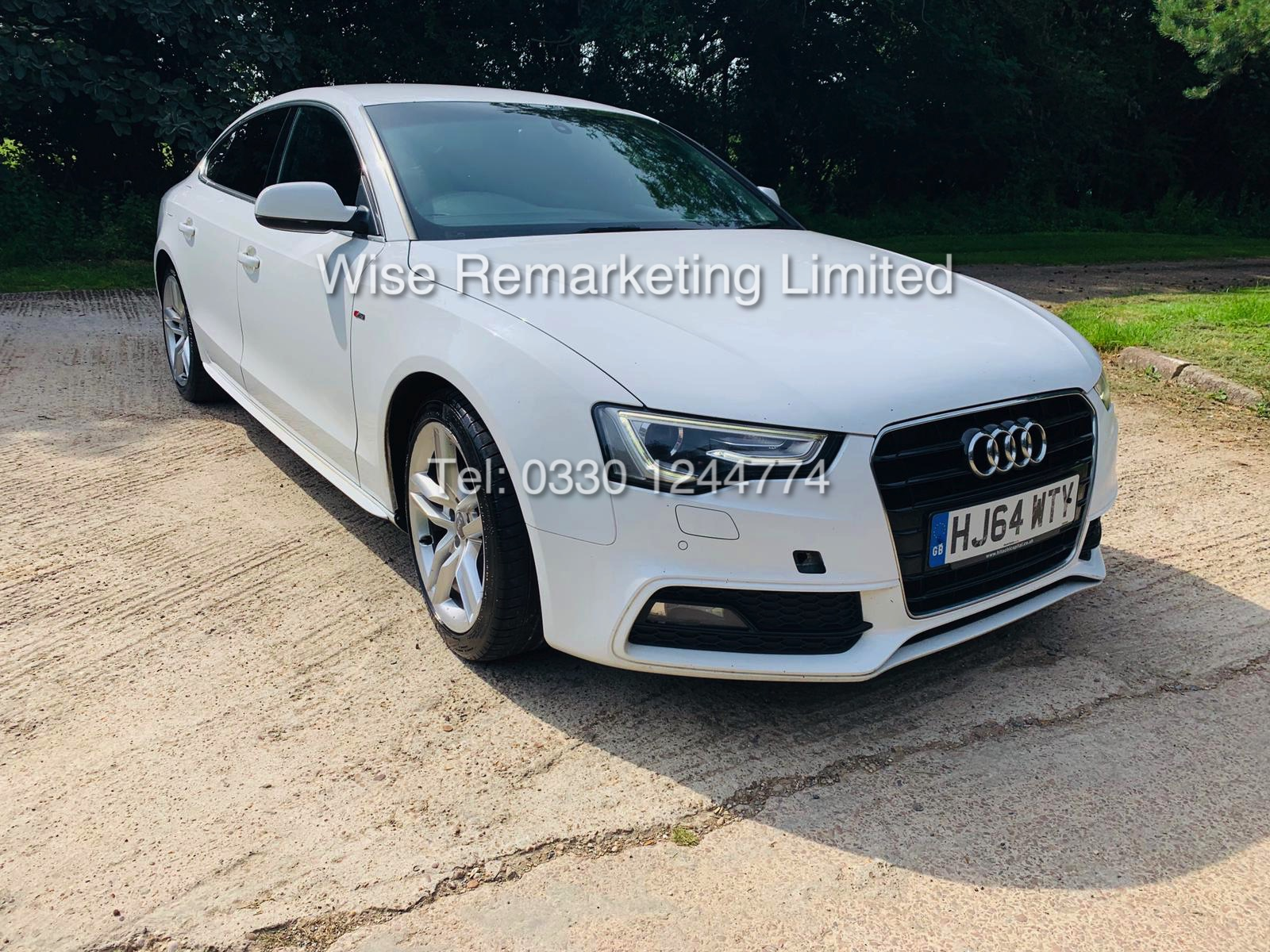 Lot 2a - **RESERVE MET**AUDI A5 2.0 TDI ULTRA S LINE 5DR 2015 MODEL **WHITE** FULL HISTORY- 1 OWNER