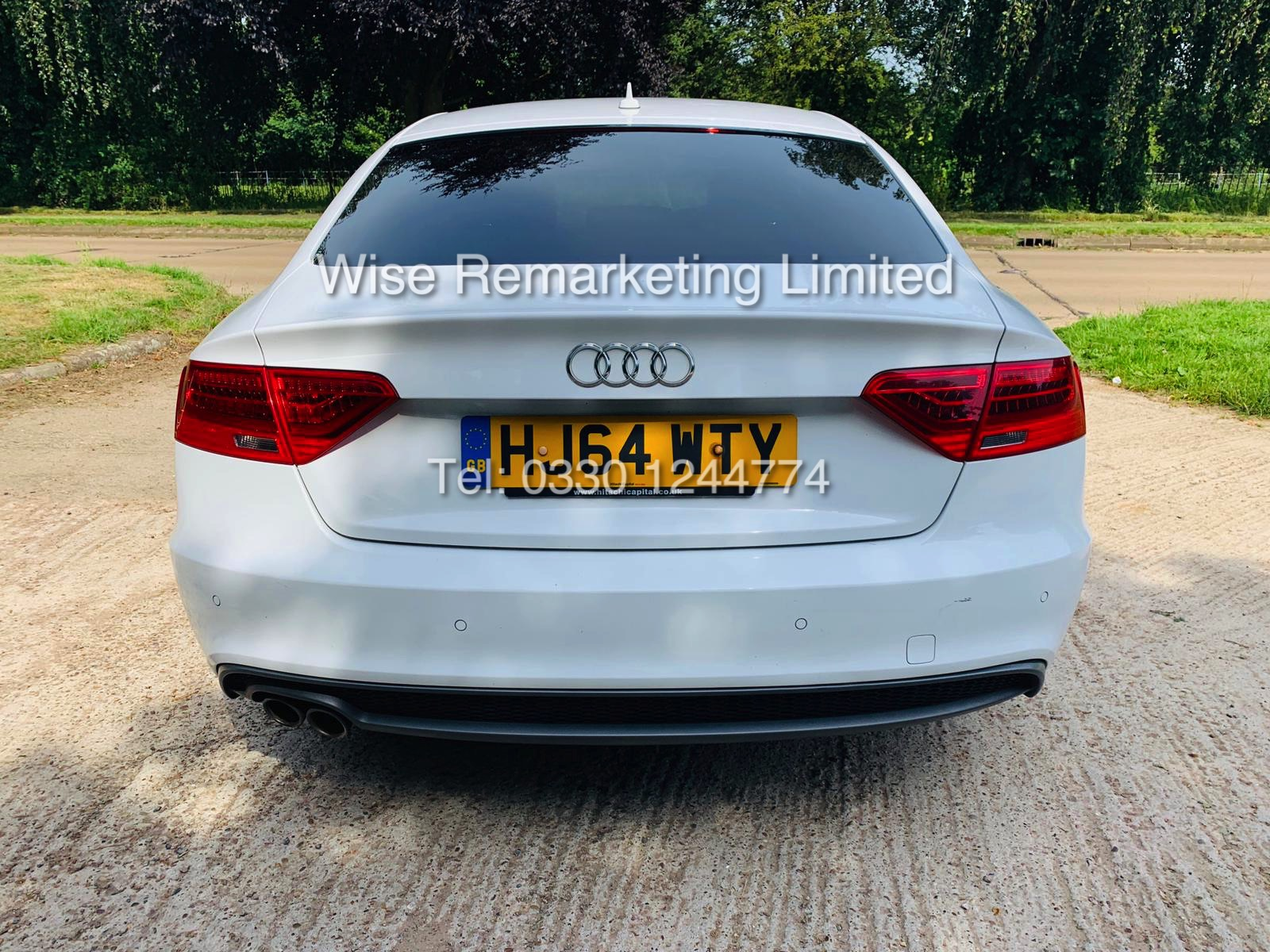 **RESERVE MET**AUDI A5 2.0 TDI ULTRA S LINE 5DR 2015 MODEL **WHITE** FULL HISTORY- 1 OWNER - Image 8 of 29