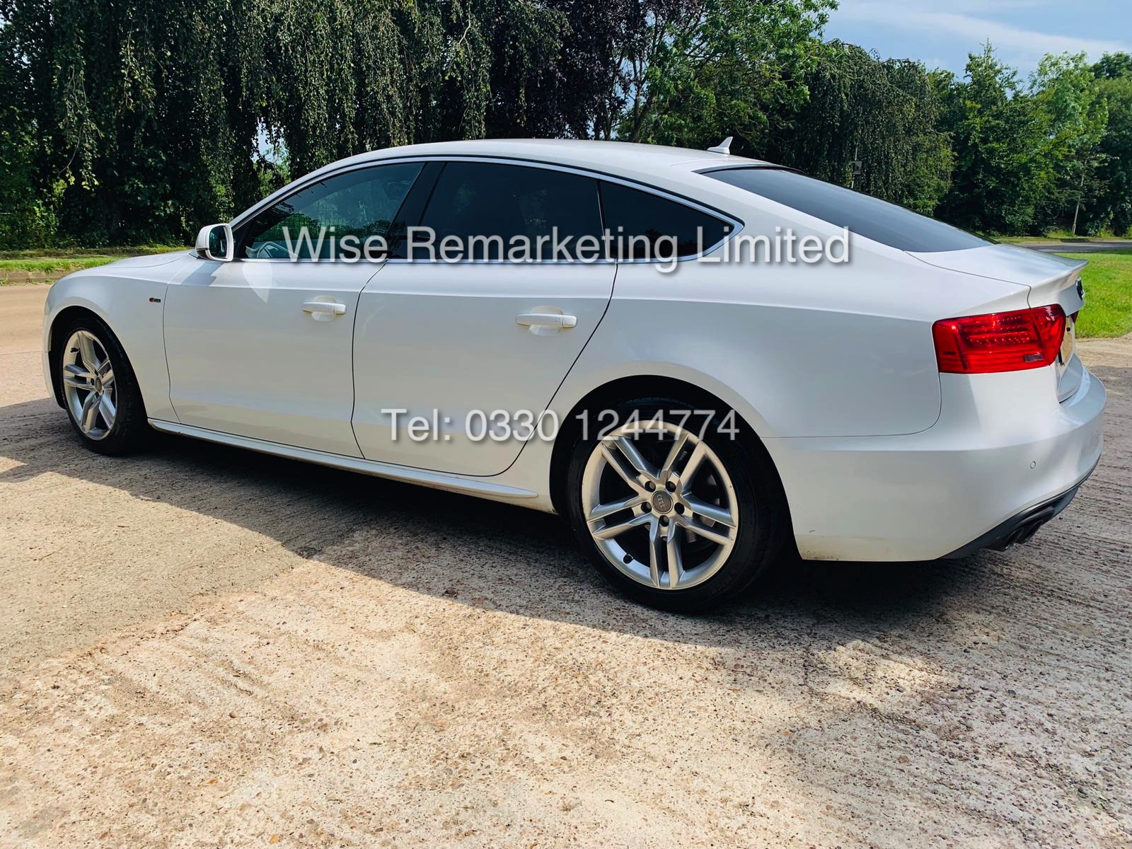 **RESERVE MET**AUDI A5 2.0 TDI ULTRA S LINE 5DR 2015 MODEL **WHITE** FULL HISTORY- 1 OWNER - Image 9 of 29