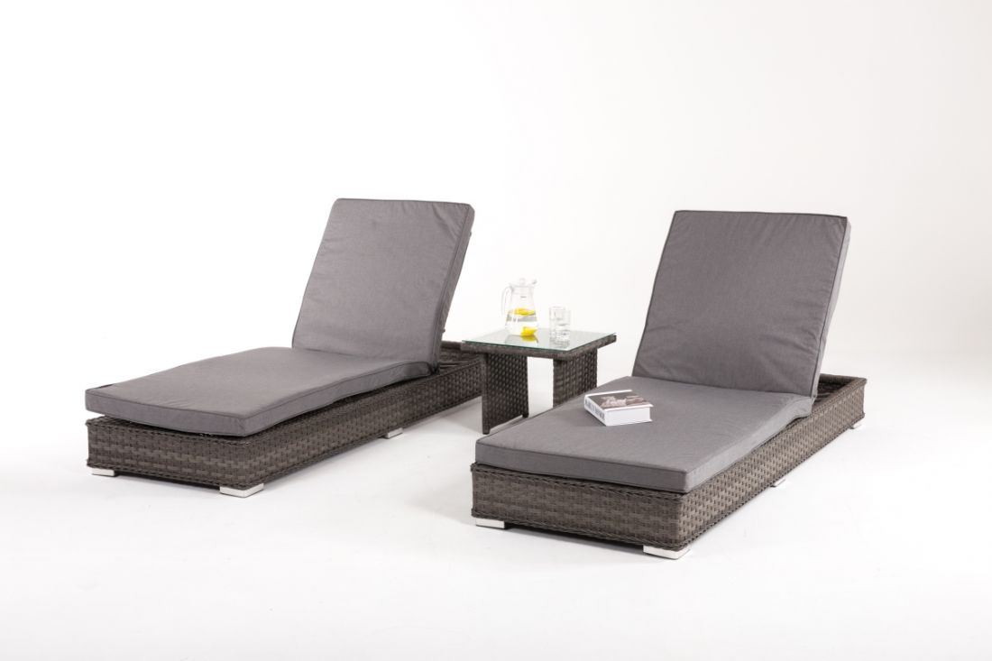 Lot 39 - Rattan Victoria Outdoor SunLounge Set *BRAND NEW