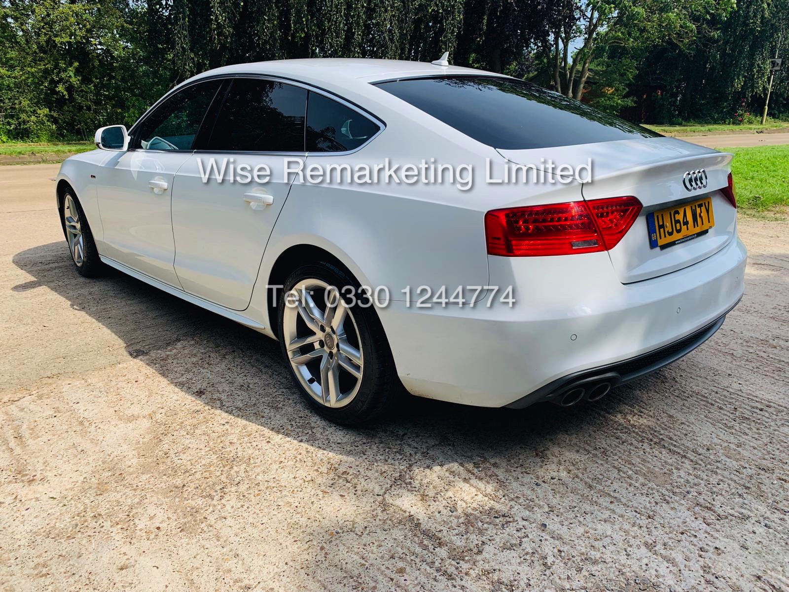 **RESERVE MET**AUDI A5 2.0 TDI ULTRA S LINE 5DR 2015 MODEL **WHITE** FULL HISTORY- 1 OWNER - Image 5 of 29
