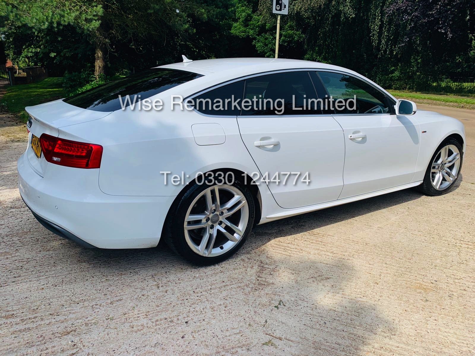 **RESERVE MET**AUDI A5 2.0 TDI ULTRA S LINE 5DR 2015 MODEL **WHITE** FULL HISTORY- 1 OWNER - Image 7 of 29